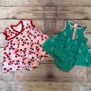 A39 Carter's 2pk infant girls 3M romper dresses